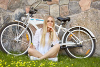 cute blond biker