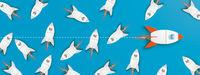 Single-Minded Rocket Startups Blue Header