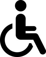 Abstract plates toilet for disabled people - Vector