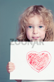 The drawn heart