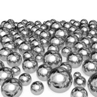 Metal balls isolated on white background.
