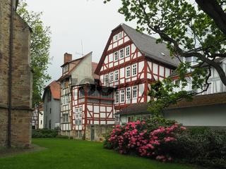 Fachwerkhäuser in der Innenstadt von Melsungen