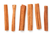 Cinnamon Sticks Isolated Over White Background