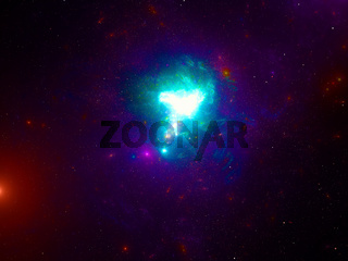 Abstract space theme background - galaxy and stars