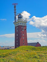 Lighthouse on the high sea island Helgoland, Schleswig-Holstein, Germany