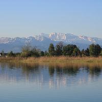 Idyllic landscape near Wetzikon, Switzerland.