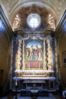 Città della Pieve Umbria Italy. The Cathedral of San Gervasio e Protasio. The Baptism of Christ by Perugino