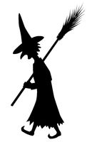 Witch Silhouette, Walking