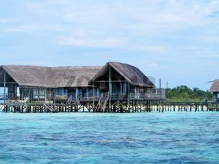 Sea facing cottages on maldive island