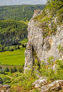 Felsen im Naturpark Obere Donau