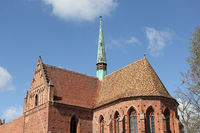 Choir and turret at the former Cistercian abbey Chorin in Germany