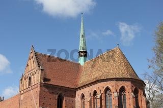 Chor und Dachreiter von Kloster Chorin in Brandenburg