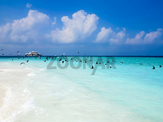 Beautiful seascape of maldives