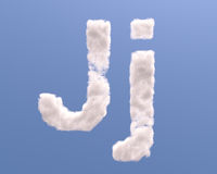 Letter J cloud shape