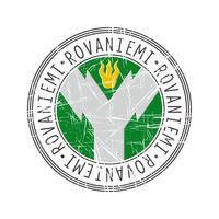 Rovaniemi city postal rubber stamp