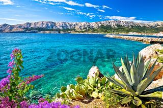 Baska. Idyllic sea  landscape in town of Baska, Island of Krk