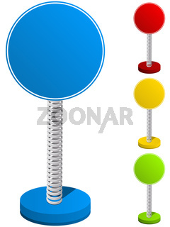 Set of Colorful Text Box on Metal Spring