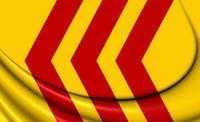 3D Flag of Voorst (Gelderland), Netherlands. 3D Illustration.