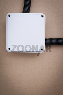 White electrical junction box