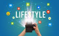 Using camera to capture social media content
