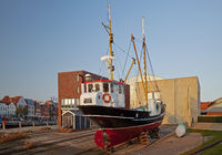 Bucket layer Hildegard, museum ship in the inland port, Husum, North Frisia, Germany, Europe