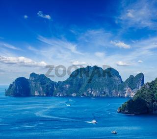 Aerial view of Phi Phi Leh island
