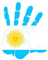 Argentina flag handprint