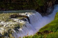 The bubbling waterfall