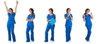 Portraits of female nurse doctor