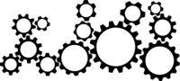 toothed gear wheel symbols