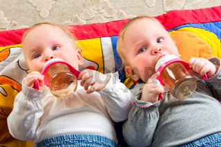 babies eating from bottle