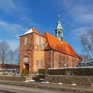 Schlosskirche Ahrensburg im Winter