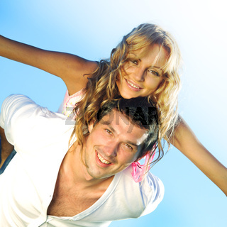 lovers in sky happy in love