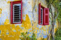 House Facade, Plaka Neighborhood Athens