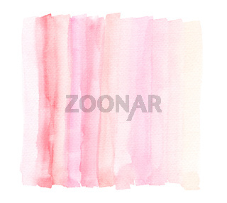 Bright Light Pink Watercolor Lines In Wash