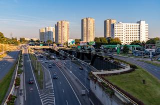 Katowice Buildings and Roździeńskiego Avenue