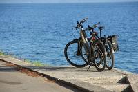 Two bike near the sea