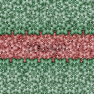 Snowflake red green seamless vector