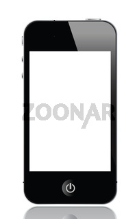 touch screen smartphone vector illustrations