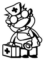 Doctor Line Drawing