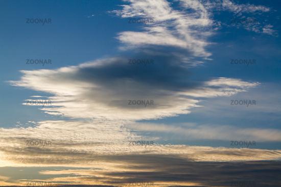 Texture evening sky