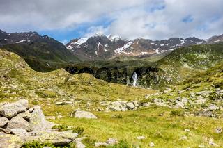 Schöner Blick Richtung Botzer Berggipfel, Timmelsjoch, Tirol, Italien