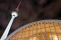 Train Station Alexanderplatz at Night