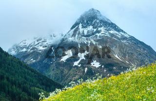 Silvretta Alps summer view, Austria