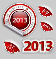 Happy New Year decoraton elements set