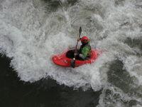 kayak in action