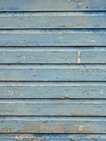 Wooden boards painted in blue color as background
