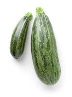 Organic Zucchini Isolated Over White Background