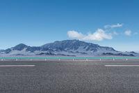 highway landscape on the western wilderness plateau