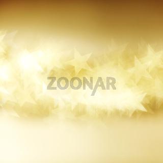 golden star bokeh background close up